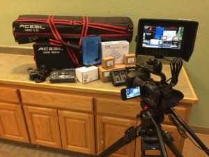 "Live Streaming camera packing featuring JVC ""4K"" UHD camera"